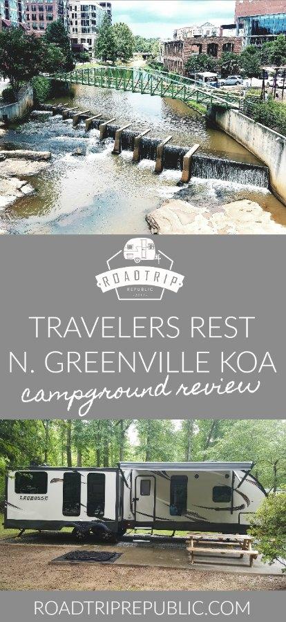 Travelers Rest KOA North Greenville Campground Campsite Review - Roadtrip Republic