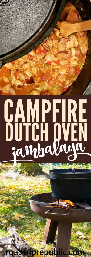 Campfire Dutch Oven Jambalaya Cajun Recipe for Camping RVing Roadtrip Republic